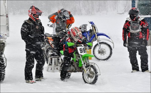 Motocross Ice Racing in Quebec, Canada