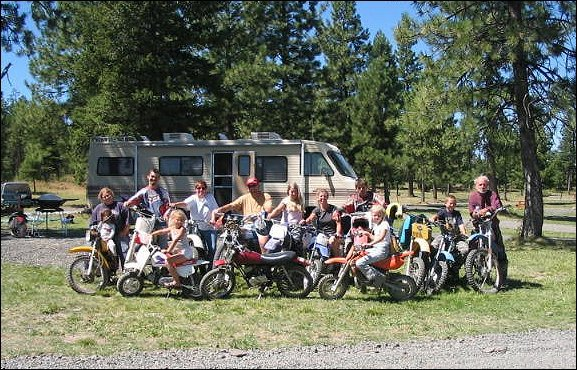 Family at Morrow County Parks OHV