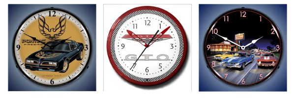 Muscle Car Clocks - GTO Neon Clock, Trans Am Clock, Bruce Kaiser