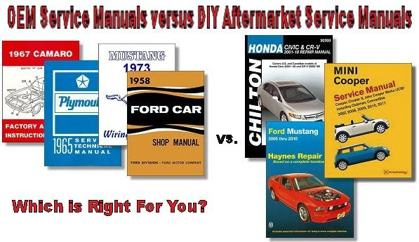 OEM Versus DIY Aftermarket Vehicle Service Manuals